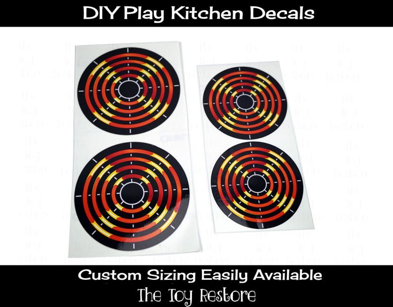 DIY Kitchen Burners Eye Stove Element New Replacement Decals image 0