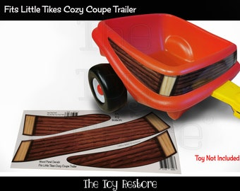 The Toy Restore Replacement Stickers Fits Little Tikes Cozy Coupe Trailer Wood Side Panels