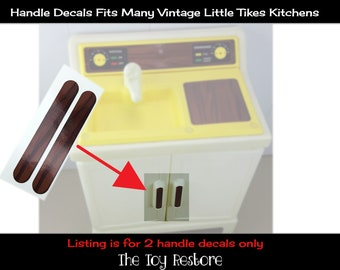 Toy Restore Replacement Stickers fits Little Tikes Play Kitchen Hutch handles