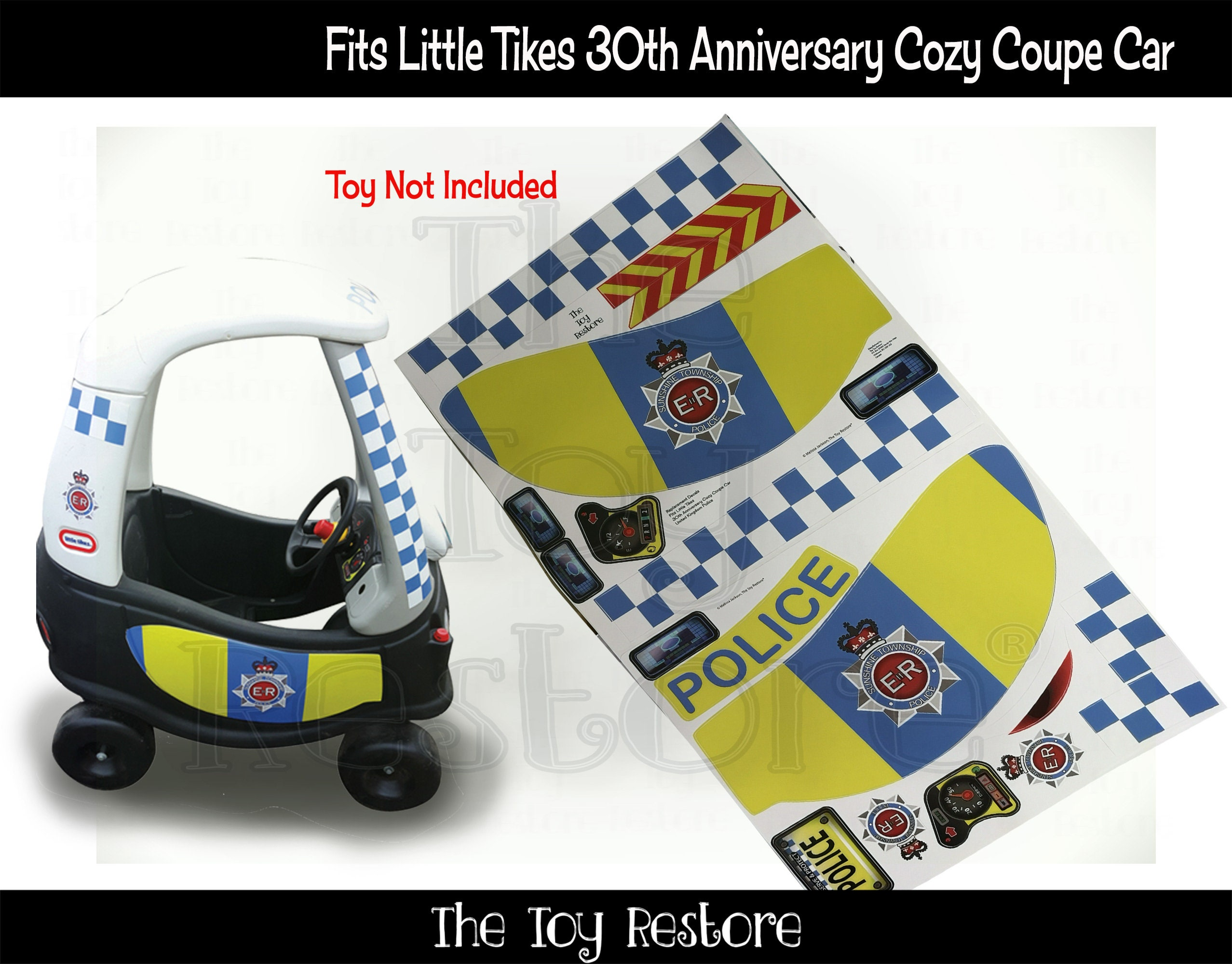 Uk Police Custom Decals Replacement Stickers For Little Tikes Etsy [ 2000 x 2555 Pixel ]