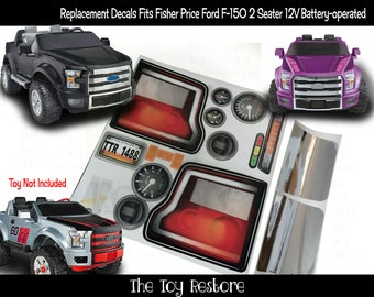 The Toy Restore Replacement Stickers fits Fisher Price Power Wheels Ford F-150 older model