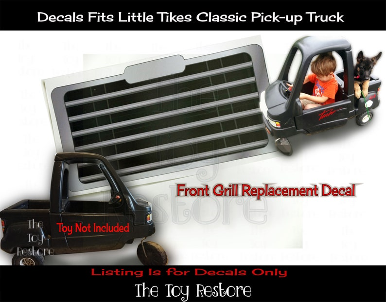 New Replacement Decals Stickers for Little Tikes Tykes Cozy image 0