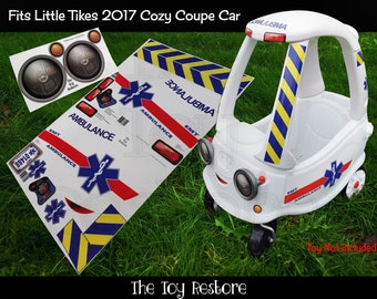 The Toy Restore Replacement Stickers Ambulance Decals Fits Little Tikes 2017 Cozy Coupe Car