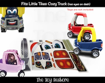 The Toy Restore Camo Replacement Stickers for Little Tikes Tykes Cozy Coupe Truck with Eyes Basic Set