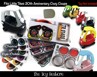 The Toy Restore Replacement Stickers fits 30th Anniversary Little Tikes Tykes Custom Cozy Coupe Car Full Set