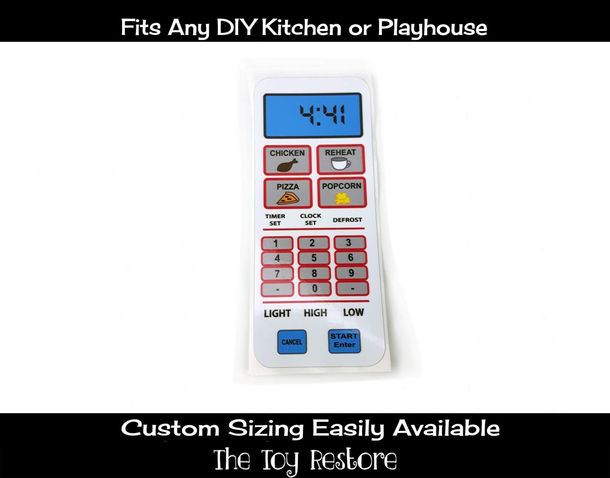 Neue Ersatz-Aufkleber-Aufkleber für spielen Küchen: Mikrowelle
