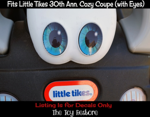 Oeil bleu élèves: Remplacement nouveaux Stickers autocollants pour 30e anniversaire Little Tikes Bruno Coupe confortable a yeux voiture