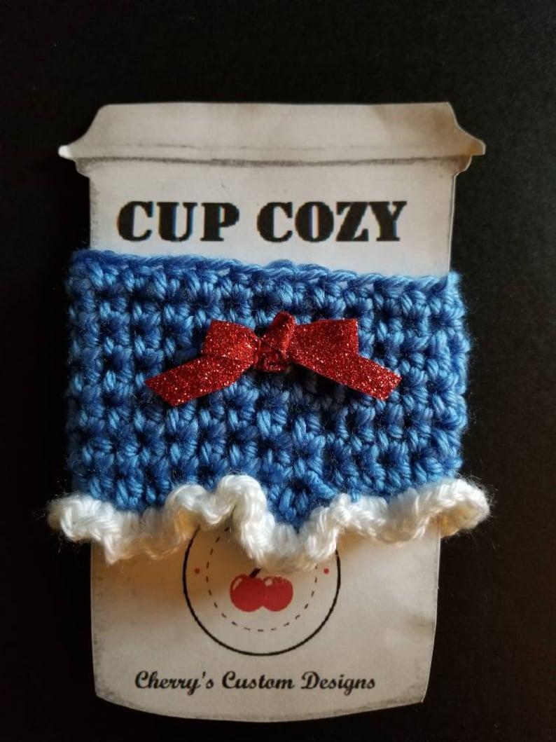 Handleless Coffee Cup Cozy Custom Gift Crochet Handmade Coffee and Tea lovers