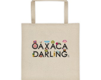Oaxaca Darling Large Canvas Tote bag