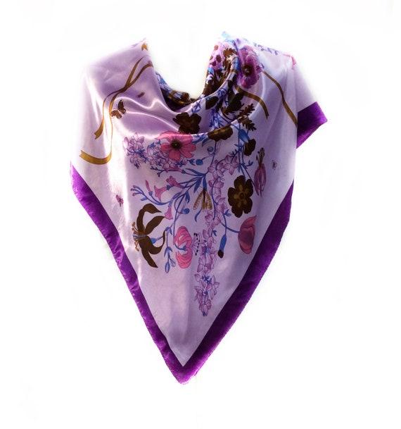 Foulard fleuri de lavande joli cadeau pour les femmes Floral   Etsy 7e135ced5e1