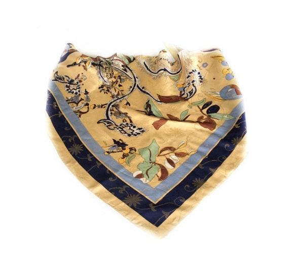 Foulard fleuri bleu crème écharpe de Paisley cadeau pour   Etsy d4aa59349af