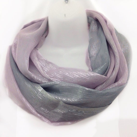 Pink Silver Scarf Birthday Gift For Teenager Cancer