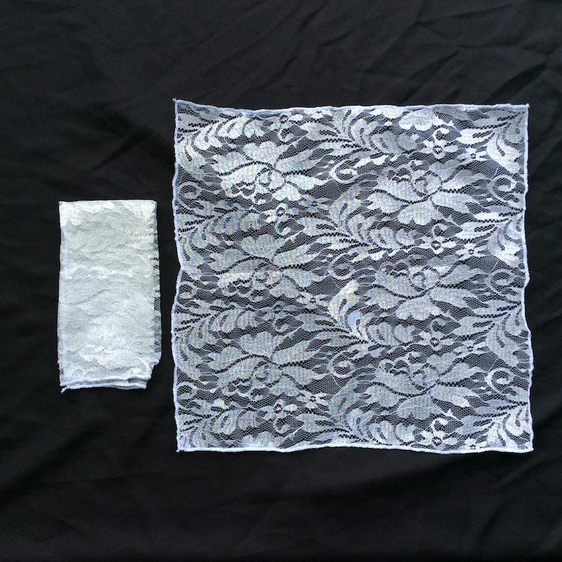 b63b740ae190c White Lace pocket squares for Groom Sparkly Pocket squares | Etsy