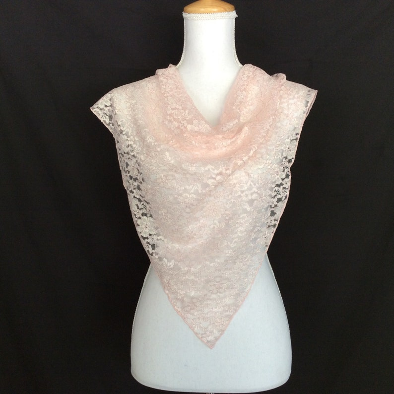 Pale Pink Lace Scarf Cancer Patient Gift Birthday