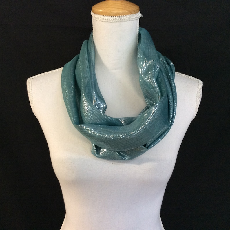Sparkly Light Teal Scarf Birthday Gift For Coworkers