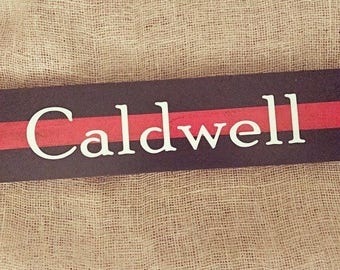 Thin Red Line *CUSTOM* Wood Sign