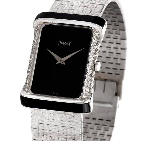 Piaget Vinatge Diamond Onyx 18K White Gold Women's