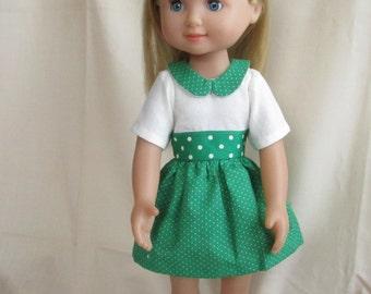 Green Polka Dot Dress