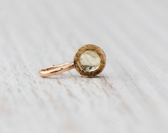 Tiny citrin pendant, November birthstone, 14k gold handcrafted jewelry, Anniversary Gift for Her, Birthday Gift