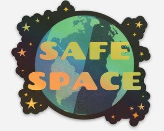 Holographic Sade Space vinyl sticker, 3 inch sticker