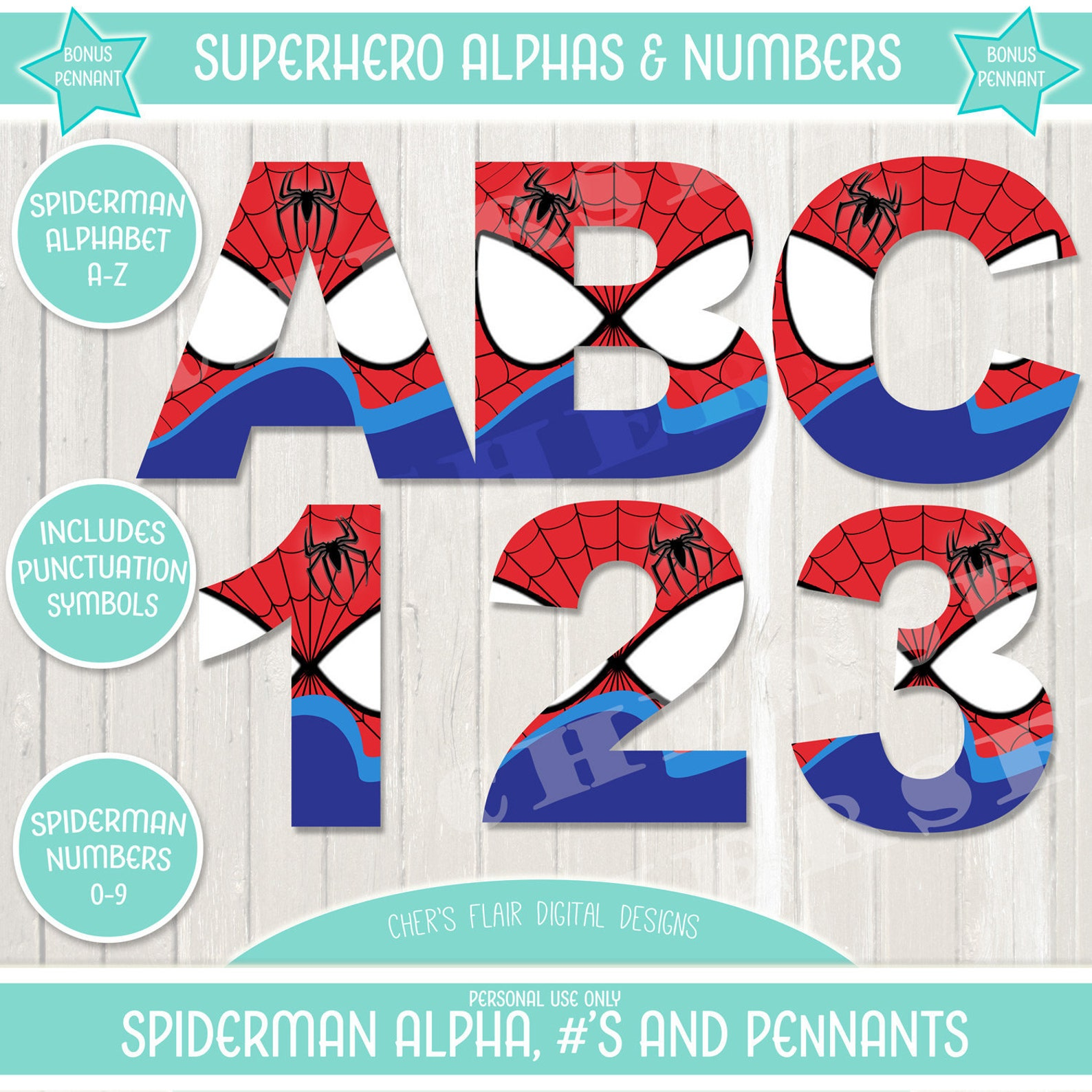Printable Spideman Word Banners