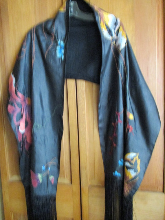 A Silk Embroidered scarf