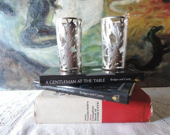 Sterling And Glass Tumblers