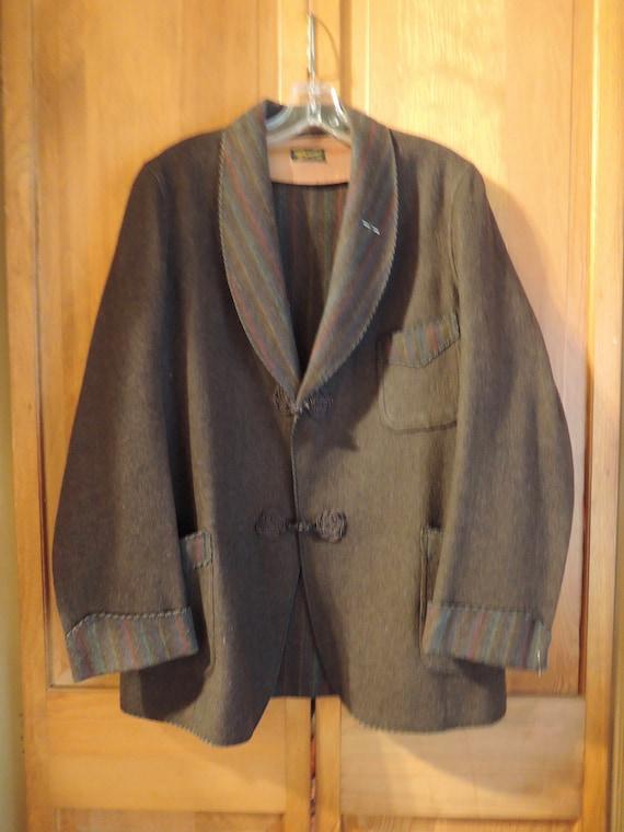 A Wool Bavarian Smoking Jacket