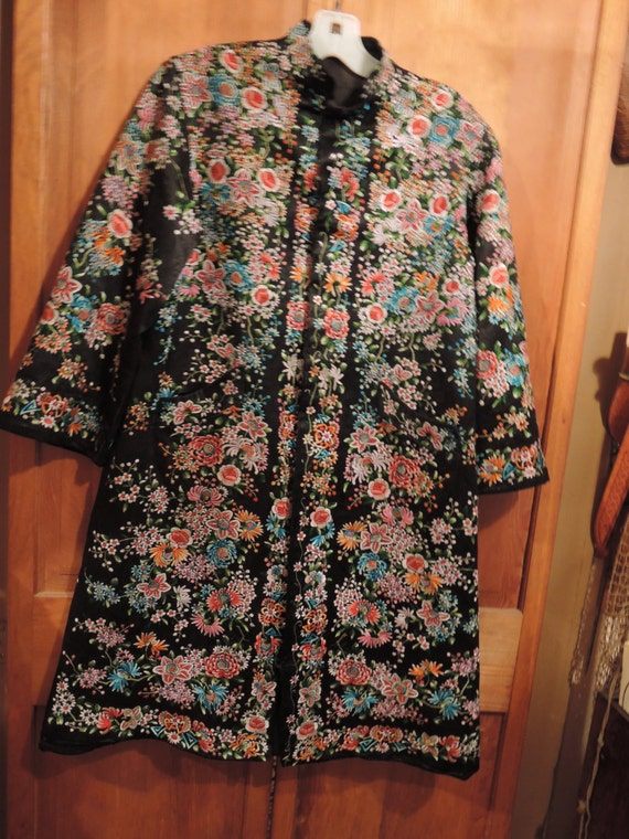 Hand Embroidered Evening Coat - image 1