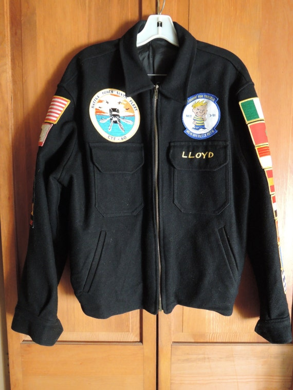Black  Wool Souvenir Jacket