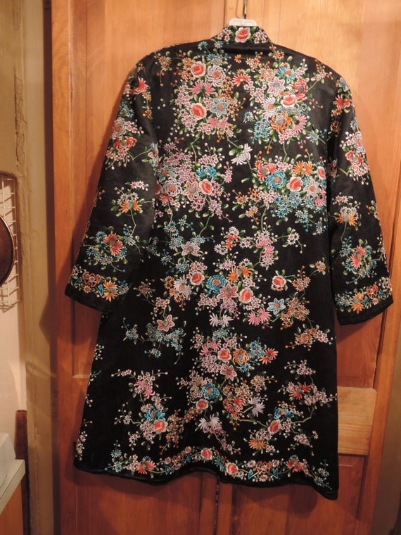 Hand Embroidered Evening Coat - image 2