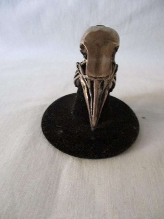 Raven Head Skeleton Ring