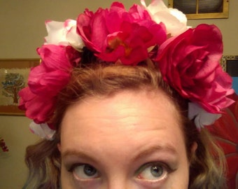 White and Pink Rose Crown