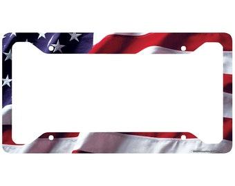 ARGENTINA FLAG COUNTRY Metal License Plate Frame Tag Holder