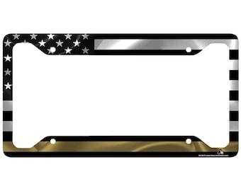 Thin Gold Line Dispatcher Shriner Front Novelty License Plate LP2312