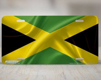 Jam Down Auto Tag Jamaica Butterfly Aluminum License Plate