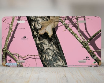 Lips Pink Woods Ladies Woman Mossy Oak Tree Camo Camouflage License Plate NEW