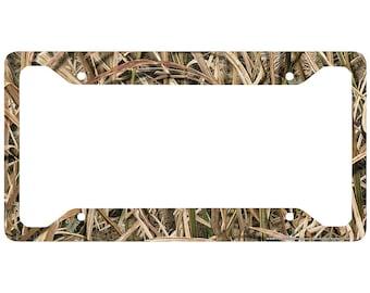 Camo License Plate Frame, Mossy Oak Car Tag Frame, Camo License Plate Holder, Mossy Oak License Plate Frame Shadow Grass Blades-30-8040