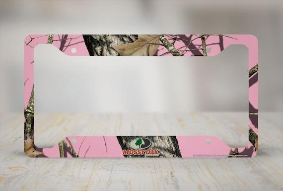 Pink Camo License Plate Frame Mossy Oak Car Tag Frame Camo | Etsy