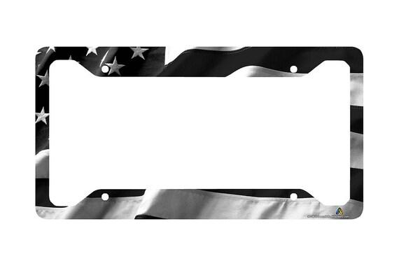 Italy Flag Country Black Bike License Plate Frame Tag Holder