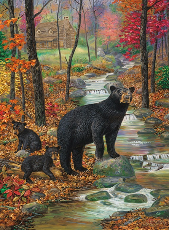 Black Bear Wall Decor Large Wall Art Print Large Bear | Etsy