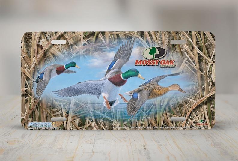 75ad7452bfff4 Mossy Oak Camo Duck Hunting License Plate Mossy Oak   Etsy