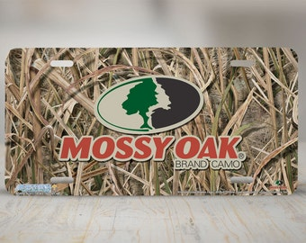 Mossy Oak Camo Shadow Grass Blades License Plate, Mossy Oak Camouflage Front License Plate, Mossy Oak Camo Car Tag, Mossy Oak Auto Tag-8039