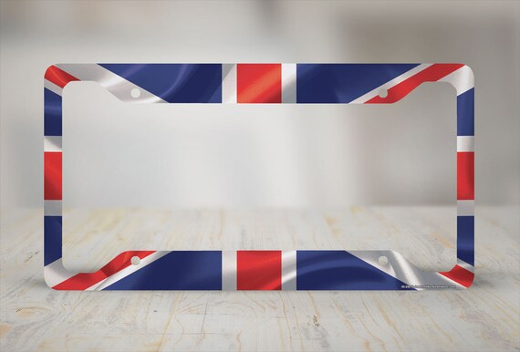 England License Plate Holder Airstrike British Flag License Plate Frame British Flag License Plate Frame-30-295 Union Jack Car Tag Frame