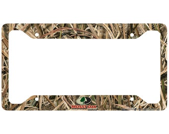 Camo License Plate Frame, Mossy Oak Car Tag Frame, Camo License Plate Holder, Mossy Oak License Plate Frame Shadow Grass Blades-30-8039