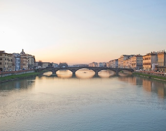 Florence Italy Photography, Ponte Santa Trinita, Italian Art, Florence Italy Art, Travel Photography, Fine Art Photo, Vintage Decor
