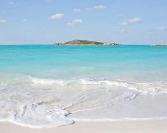 Exuma Bahamas Beach Photography, Tropic of Cancer Beach Caribbean, Ocean Photography, Caribbean Travel Photography, Sea Art, 8x10 Photo