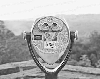 Explore, Travel Photography, Blue Ridge Parkway, Grandfather Mountain, North Carolina, Nature Photography, Black and White Photo, Art, 8x10
