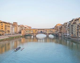 Florence Italy Photography, Ponte Vecchio Bridge, Italian Art, Florence Italy Art, Travel Photography, Fine Art Photo, Vintage Decor
