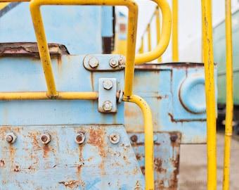 Vintage Train Art, Train Photography, Industrial Art, Abstract Photography, Industrial Decor, Train Photography, 8x10 Photo